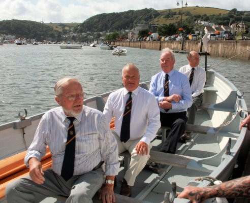 Lew Langworthy, Bob Waycott, John Mitchlemore and Ernie Chase, our intrepid rowers